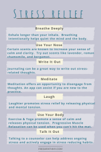 7 Stress Relief Strategies